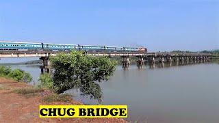 WDM3A Nagercoil Gandhidham Chugs Aghanashini River