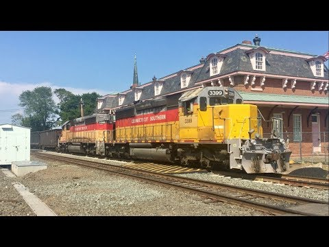 Catching Amtrak and CSOR in Wallingford, CT!