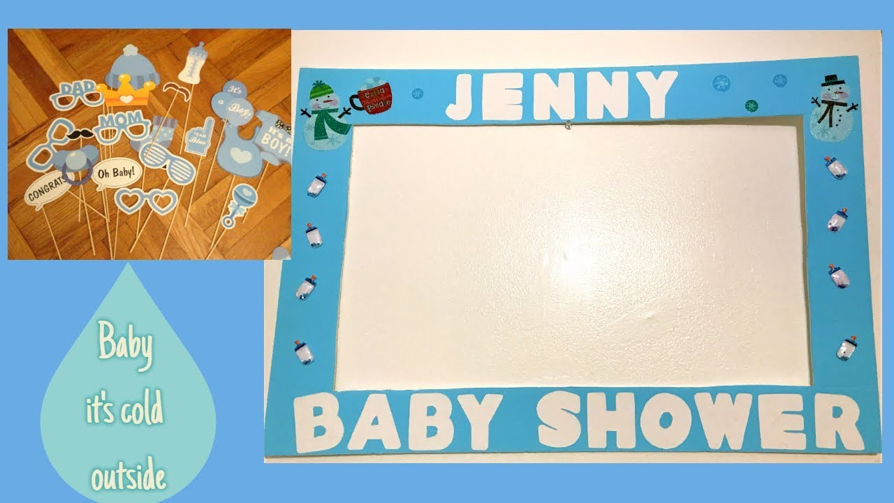 Simple Baby Shower Photo booth frame- Baby Boy! - YouTube