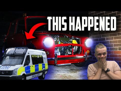 Classic Mini Restoration | *POLICE CALLED* Lights & Exhaust