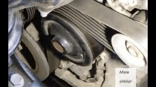 How to replace drive belt or serpentine belt Toyota Corolla. VVTi engine. Years 2000-2009.