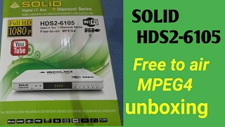 SOLID HDS2-6105 digital I.T. box Free to air MPEG4 box me unboxing