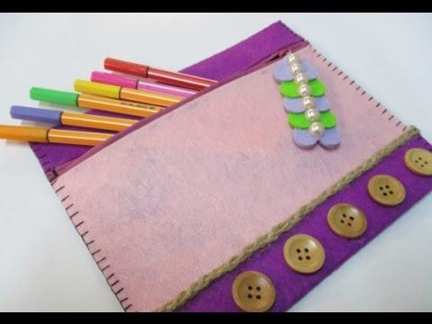 Diy 78 Pencil Case With Cute Zipper Decoration Youtube