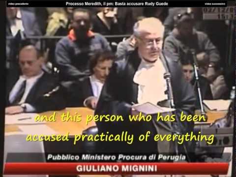 Giuliano Mignini defends Rudy Guede