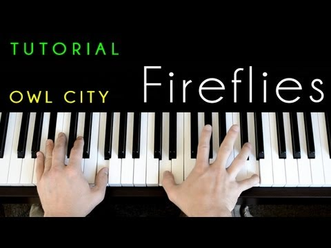 Owl City Fireflies Piano Tutorial Cover Youtube