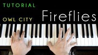 Owl City - Fireflies (piano tutorial & cover)