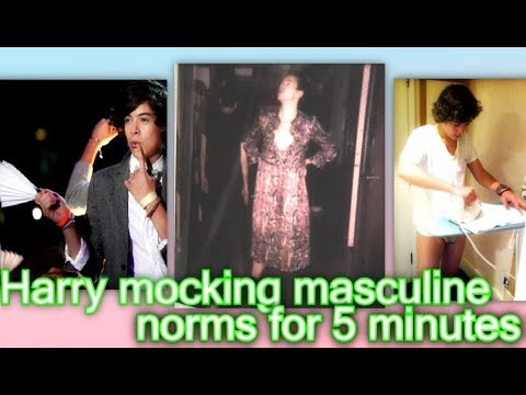 Harry Styles mocking masculine norms for 5 minutes