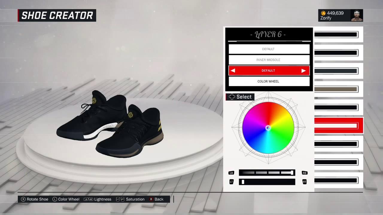 NBA 2K17 Shoe Creator - Adidas Harden 1