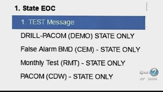 Agency releases emergency alert list, says worker not doing well after mistake