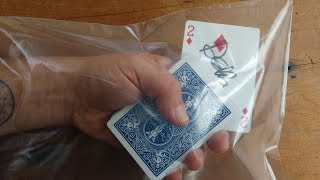 DO SHOCKING 'MELTING CARD' MAGIC TRICK! (Learn Amazing Card Trick!)
