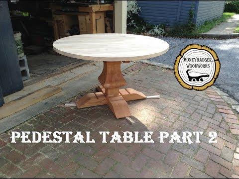Pedestal Kitchen Table Woodworking pedestal kitchen table how to part 2 youtube woodworking pedestal kitchen table how to part 2 workwithnaturefo