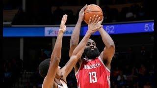 The Houston Rockets Rain Down 24 Three's Against The Thunder!   October 3rd, 2017