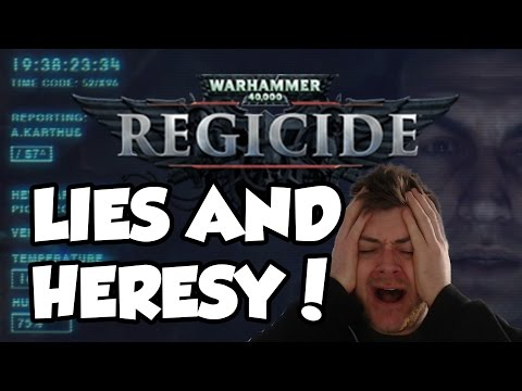 Warhammer 40,000: Regicide is a GOD DAMN CHESS GAME?! LIES AND HERESY!!