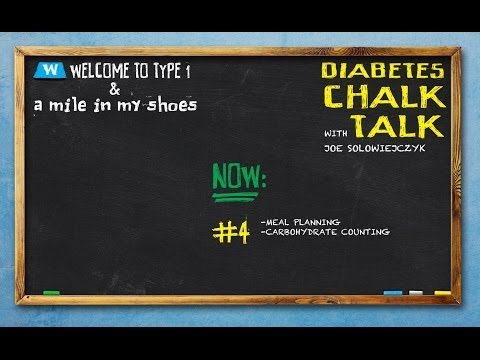 Diabetes Chalk Talk 4: Meal Planning and Carbohydrate Counting