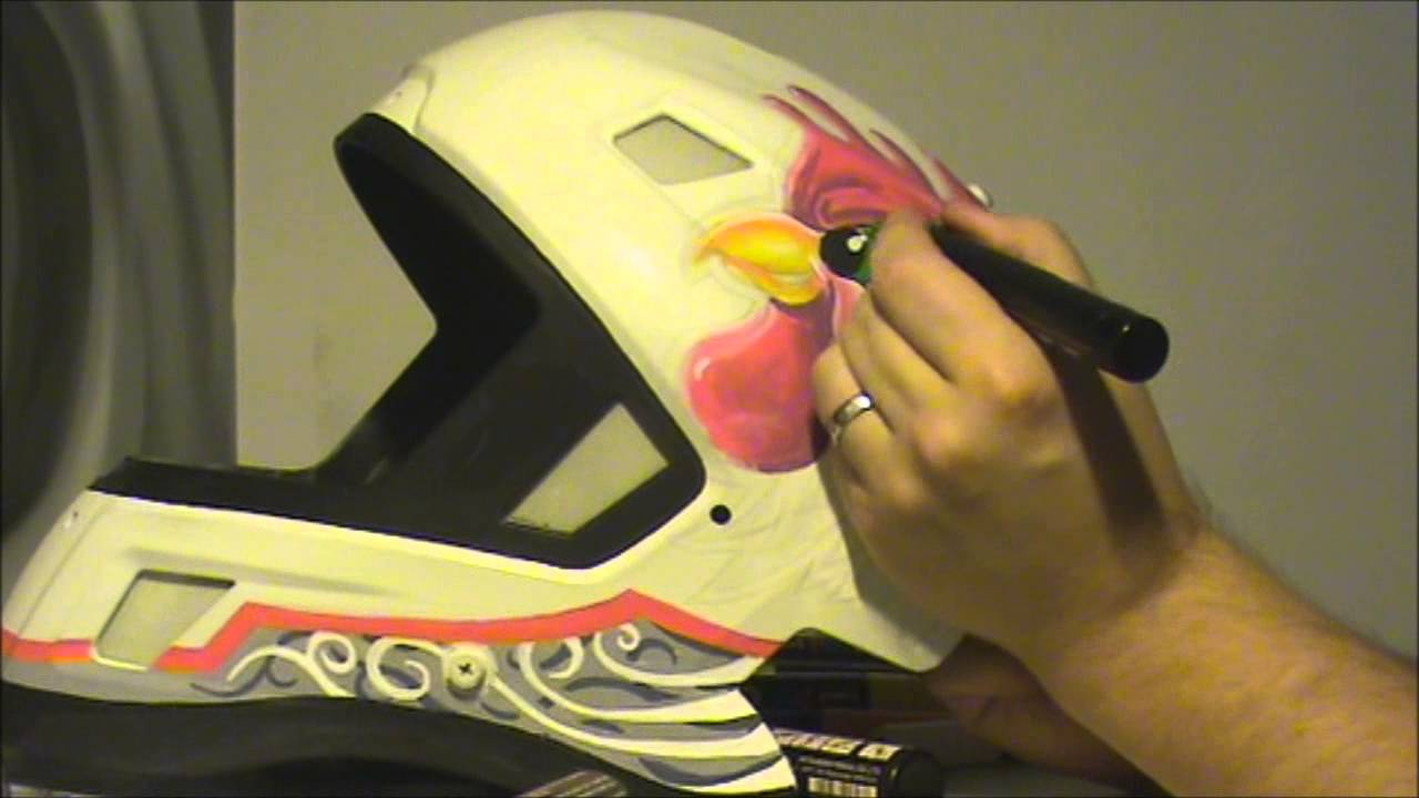 Speed Paint Floorball Goalie Mask Painted With Posca Markers Youtube