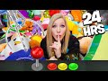 Overnight Survival Challenge in the World's LARGEST Arcade! - 24 Hours