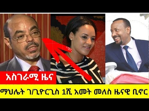 Artist Mahlet Choose The Former  Prime Minister Meles Zenawi As The Best Person