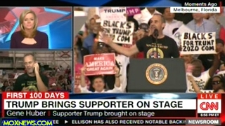 """Supporter President Trump Pulled Up On Stage Asks """"Fake News"""" To """"Please Be Nicer To The President"""""""