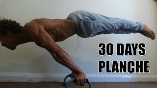 Full Planche in 30 days - 30 Day Planche Challenge