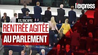 La rentrée chahutée des députés européens