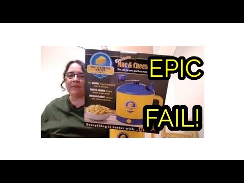 Testing kitchen gadgets- mac and cheese nation (EPIC FAIL)