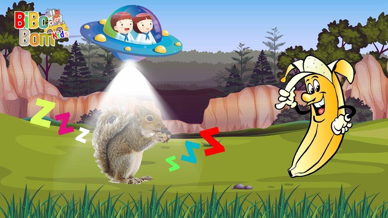Hoạt hình đĩa bay UFO dạy bé màu sắc và con vật - Learn color and animals with UFO cartoon
