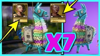 PACK OPENING 2 MYTHICAL AND X7 LAMA ANNIVERSAIRE - FORTNITE SAUVER THE WORLD