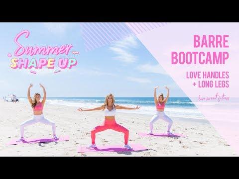 Barre Bootcamp - Love Handles & Long Legs Workout | Summer Shape Up '18