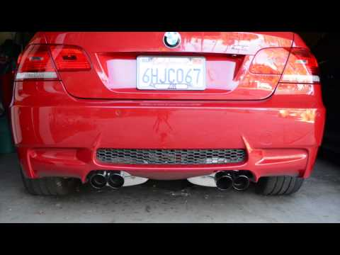 BMW M3 Stock Exhaust and Corsa