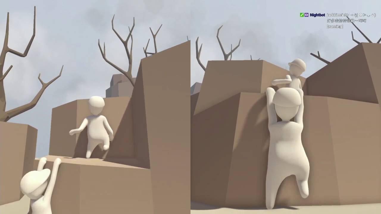 樹懶登山模擬器 | Human Fall Flat COOP人類墜落 #02 - YouTube