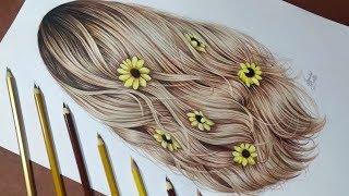 Desenhando Cabelo Loiro / Drawing Tumblr Hair