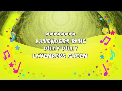 Lavenders Blue Dilly Dilly | Karaoke | Bedtime Song | Cinderella | Nursery Rhyme | KiddieOK