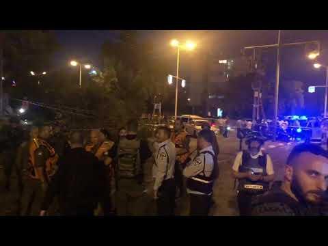 צפו: זירת הנפילה בעיר אשדוד