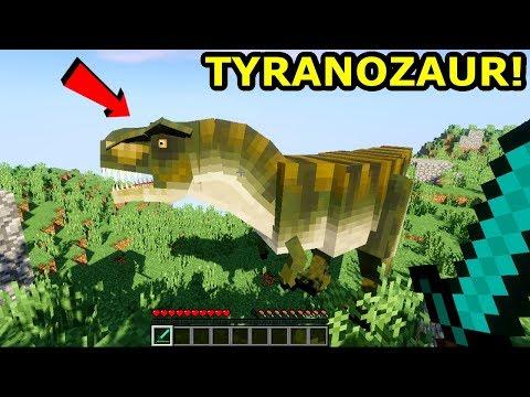 Minecraft Park Jurajski 3- TYRANOZAUR... Pierwsze Spotkanie