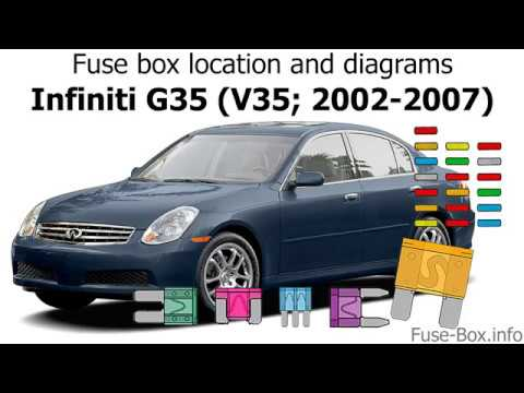 Fuse Box Location And Diagrams Infiniti G35 2002 2007 Youtube