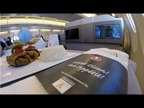 Turkish Airlines A330 Business Class Istanbul- Boston (Electronics Ban)