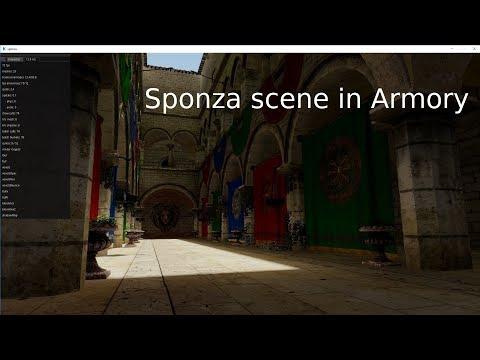 Sponza Scene In Armory Preview