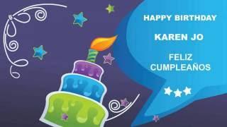 KarenJo   Card Tarjeta - Happy Birthday