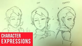 How To Draw Character Expressions: Happy, Sad, Pleased