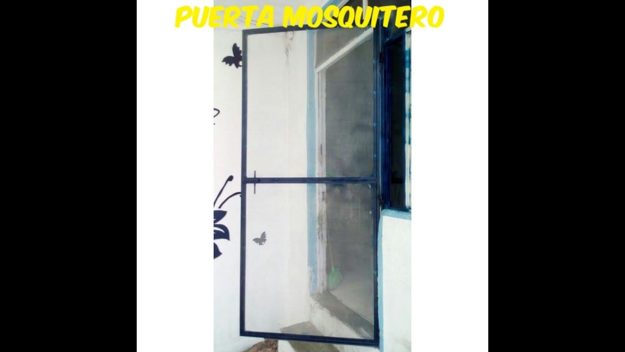 Puerta mosquitero f cil youtube for Mosquiteros de aluminio