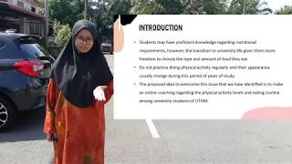 Healthy lifestyle online coaching for university students