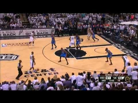 Manu Ginobili - Valiant Effort vs. Kevin Durant and the Thunder (2012 WCF Game 5, 34 points)