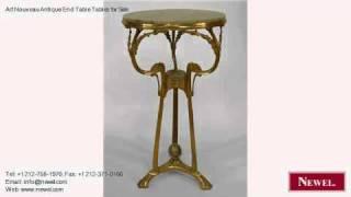Art Nouveau Antique End Table Tables For Sale