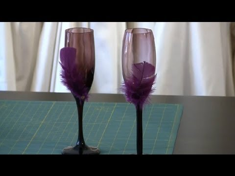 Diy toasting glasses for weddings wedding gifts crafts youtube solutioingenieria Choice Image