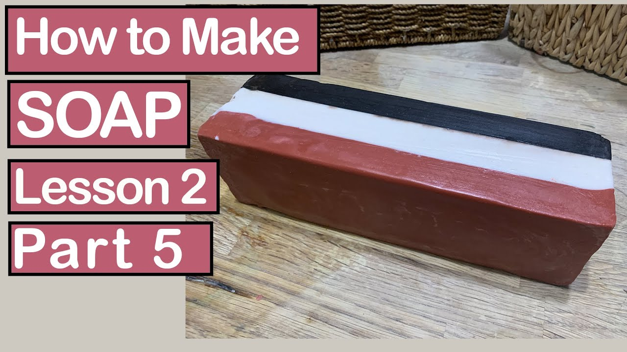 How to Make Cold Process Soap ~ Lesson 2~ Part 5/12~ Neapolitan Clay Facial Bar