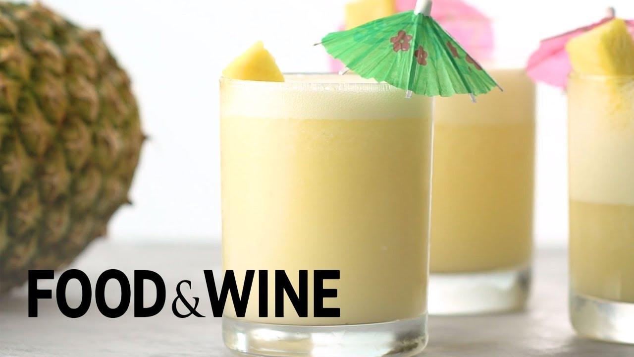 Frozen Pina Colada Recipe Food Wine Youtube