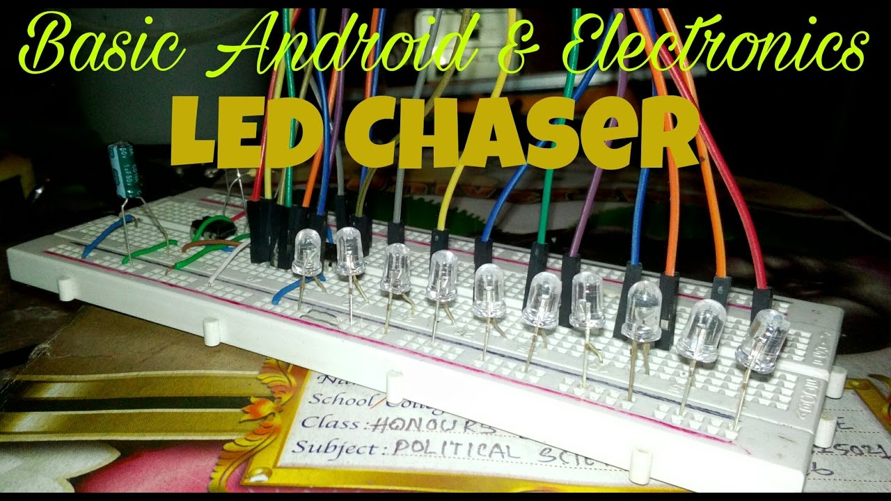 How To Make A Led Chaser Youtube Circuit Diagram