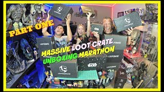 MASSIVE LOOT CRATE UNBOXING MARATHON PART ONE | Guru Reviews