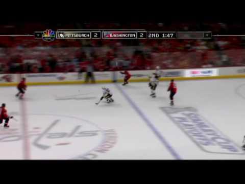 Simeon Varlamov UNBELIEVABLE save on Sidney Crosby - Game 1 05/02/2009
