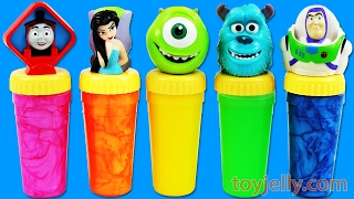 Learn Colors Slime Clay Surprise Toy Play Doh Smiley Face PJ Masks Finger Family Song Nursery Rhymes